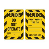 Economy Safety Tags - Caution Do Not Operate