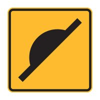 Warning Road Signs - W5-10 Speed Hump (Symbolic) - 600x600mm C1 ALUM
