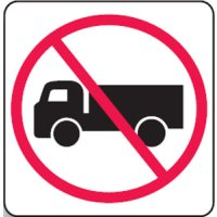 Regulatory Signs - No Trucks Picto