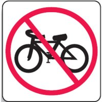 Regulatory Signs - No Bikes Picto