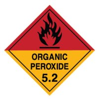 Hazardous Material Placards, Label - Organic Peroxide 5.2