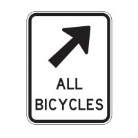 Bicycle Path Sign - Right Arrow