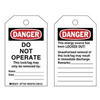Toughwash ® Do Not Operate Tags