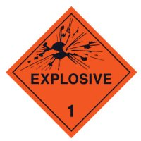 Hazardous Material Placards, Label - Explosive1