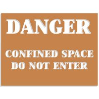 Confined Space Stencils - Do Not Enter