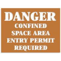 Confined Space Stencils - Area Entry By Permit Required