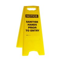 Sanitise Hands Prior To Entry Deluxe Floor Stands Notice