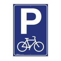 Parking Sign - Bicycle Symbol W300mm x H450mm