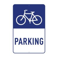 Parking Sign - Bicycle Parking W300mm x H450mm