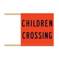 Regulatory Road Sign - R3-3 Children Crossing Flag - 600x600mm