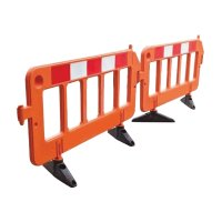 Flakstak Portable Barrier Stackable Orange 2m