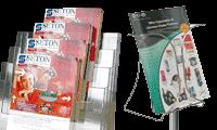 Présentoirs brochures et documents
