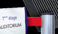 Signalétique, Tapis, Poteaux de guidage pour accueil entreprises