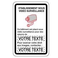 Panneaux de vidéo surveillance personnalisés
