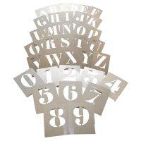 Pochoirs en aluminium chiffres et lettres pour marquage au sol