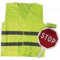 Kit de sécurité trafic avec panneau + gilet de sécurité + brassard