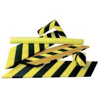 Kit de butoirs de protection en polyéthylène noir et jaune