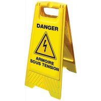 Chevalet de signalisation grande stabilité - Danger Armoire sous tension