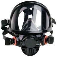 Masque complet de protection respiratoire bi-filtre confortable