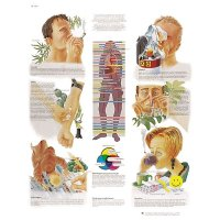 Planche anatomique de formation anti-drogues