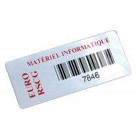 Etiquettes code à barres en polyester métallisée
