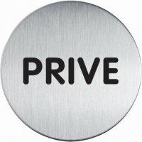 Panneau d'information design rond - Privé