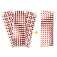 """Lot de 4 planches de pictogrammes CLP """"Matières corrosives"""" (3+1 gratuite)"""