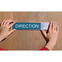 Plaque de porte : support simple avec plaque gravée personnalisée