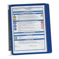 Supports muraux métalliques protège-documents pour informations spécifiques