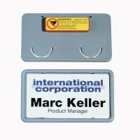Porte-badge rigide en polypropylène à aimant