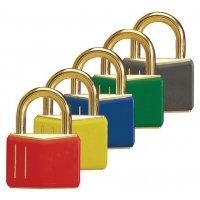 Cadenas de sécurité en laiton massif de couleur
