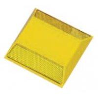 Réflecteurs de sol colorés en plastique à coller avec un adhésif époxy