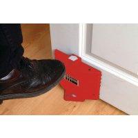 Ferme-porte automatique sans fil réagissant aux alarmes