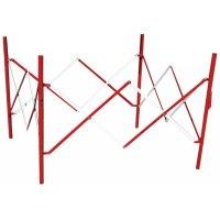 Barrières de chantier extensibles carrée rouges et blanches