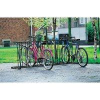 Range vélos au sol type face à face pour 16 vélos