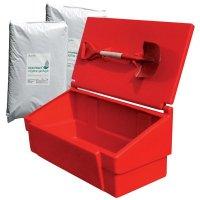 Prix spécial - Kit avec bac à sable incendie, pelle incendie et 2 sacs d'absorbant