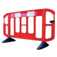 Barrière de sécurité chantier plastique rouge et blanche TITAN