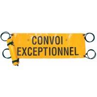 Bâche réglementaire de signalisation de convoi exceptionnel