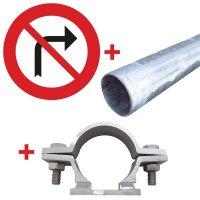 Panneau Interdiction de tourner à droite