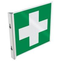 Panneaux en drapeau et tridimensionnels EN ISO 7010 Premiers secours