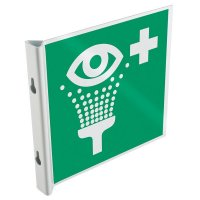 Panneaux en drapeau et tridimensionnels EN ISO 7010 Equipement de rinçage des yeux