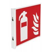 Panneaux en drapeau et tridimensionnels EN ISO 7010 Extincteur d'incendie
