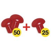 Pack de 3 lots de 25 embouts de protection en Polyéthylène haute densité