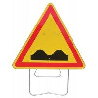 Panneau de signalisation temporaire - Cassis ou dos d'âne