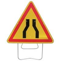 Panneau de signalisation temporaire - Chaussée rétrécie