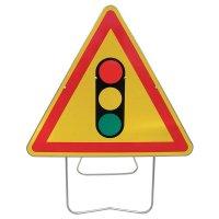 Panneau de signalisation temporaire - Feu tricolore