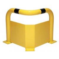 Arceaux de protection d'angle avec lisse en acier haute résistance