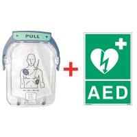 Kit électrodes pour défibrillateur HS1 + signalétique officielle offerte