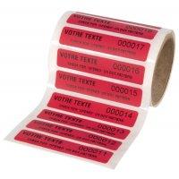 Etiquettes anti-fraude personnalisées en polyester infalsifiable