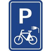 Panneau Parking Vélo électrique